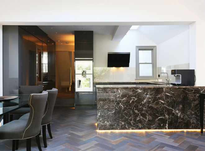 Herringbone Installed in London