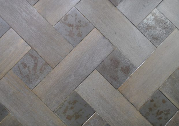 Parquet With Metal Normandy & Rusty Iron