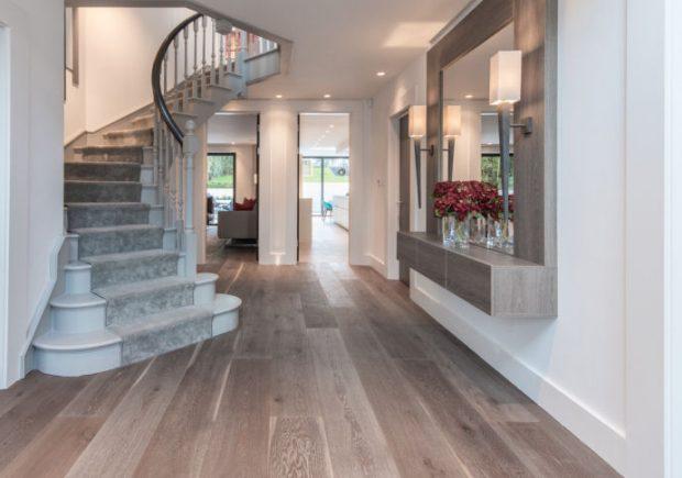 Rustic  Wide Oak Plank Floor